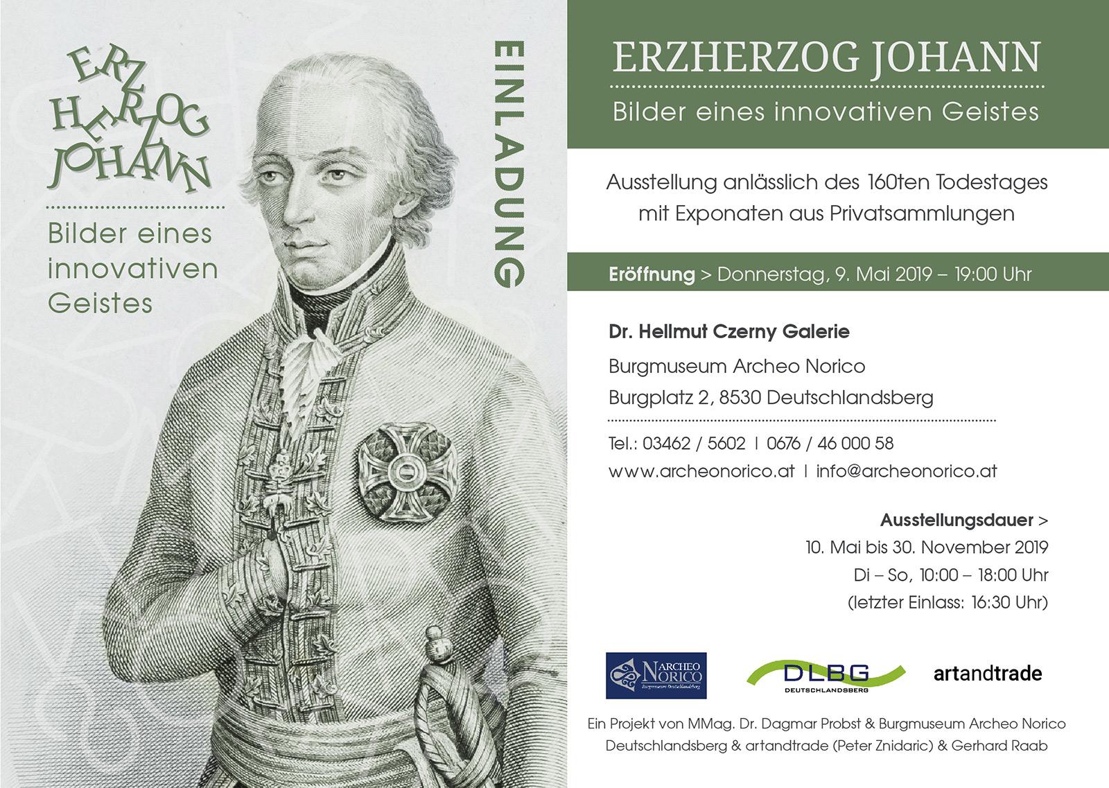 Expo Erzherzog Johann 10.Mai – 30. November 2019