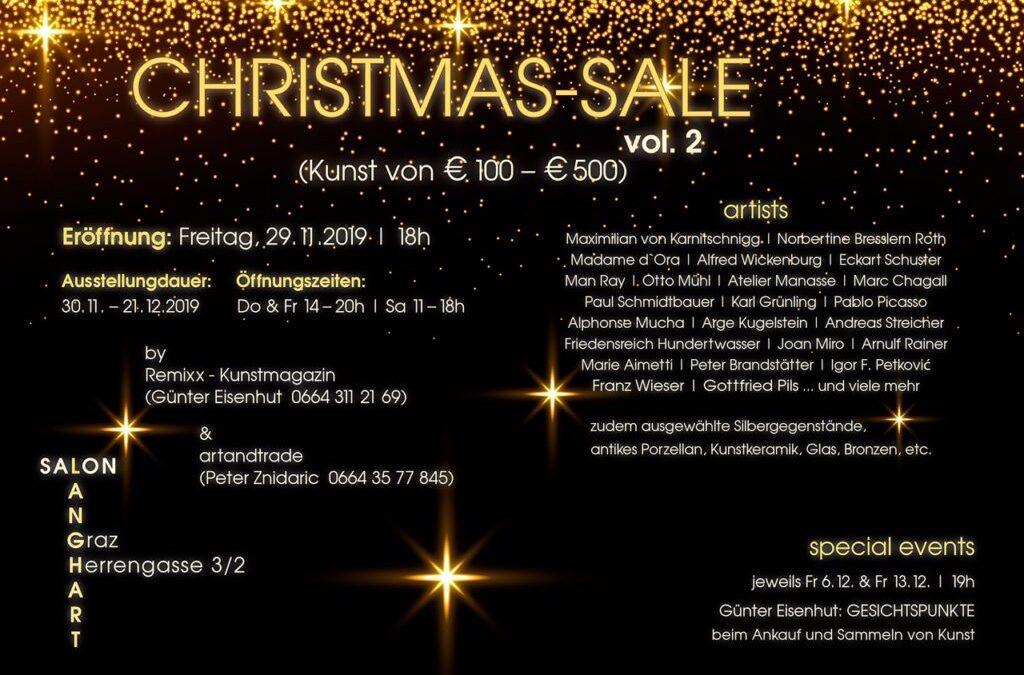 CHRISTMAS SALE – EXPO vom Freitag 29.11.2019 – 21.12.2019